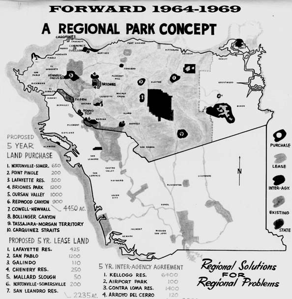 1964 east bay parks map