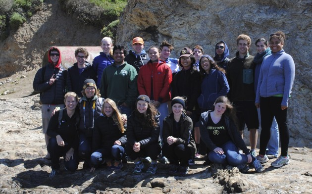Sustainable Seas Monitoring Group and Sabine Bergmann at Duxbury Reef, 2014. Photo by Sabine Bergmann